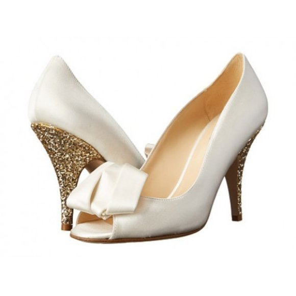 kate spade | Clarice Glitter Heels, 8